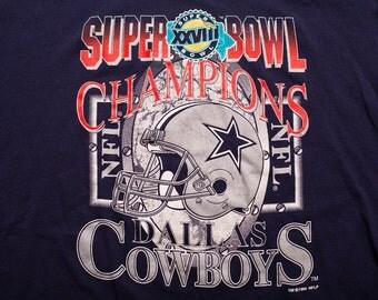 Dallas Cowboys T-Shirt, 1994 Super Bowl XXVIII Champions, Vintage 90s