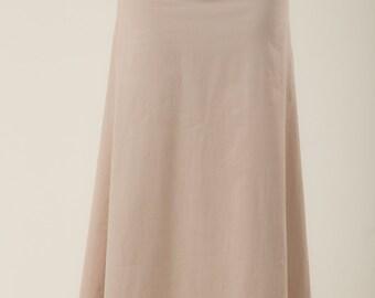 Poplin skirt - Bohemian skirt - womens clothing - long  skirt