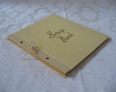 Vintage Scrapbook Scrap Book By Westab No. 553 Unused Embossed Cream Leatherette Photo Album, 1950s Mid Century Classic