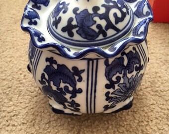 Seymour Mann China Blue Porcelain Jar