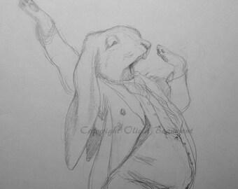 Leverette - original sketch by Olivia Beaumont