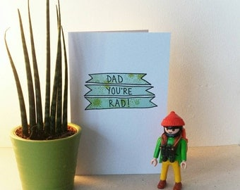 Dad you're Rad - Father's Day card