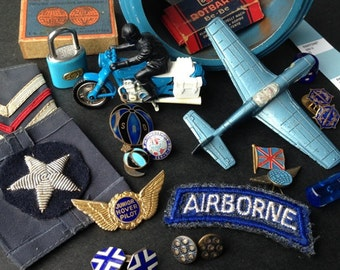 Vintage Airborne blue Pantone inspired instant collection. Fabulous findings for mixed media creations and jewelry supply.