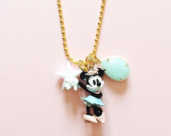 Disney Jewelry Minnie Mouse Inspired Charm Necklace , giddyupandgrow