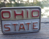 Ohio State License Plate Belt Buckle