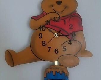 Winnie The Pooh Children's Pendulum Wall Clock