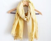 Fusticwood + Gold Fair Trade Handwoven Cotton Scarf