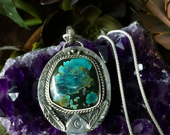 Moon Child- Turquoise Necklace