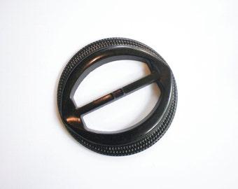 Dark Chocolate Bakelite Belt Buckle