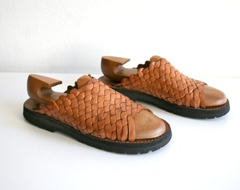 Woven Leather Sandals 9