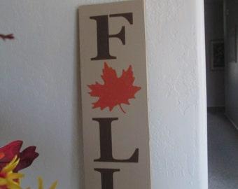 Fall Wooden Sign . . .  - Wooden Sign - Wooden Fall Sign - Autumn - Leaf