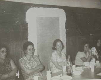 Vintage 1970's Photo - Group of Women Sat at a Table
