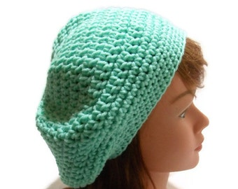 Green Beret, Mint Green Hat, Summer Beret, Kawaii Beret, Mint Green Beret, Green Slouchy Hat, Girls Hats, Summer Hat, Tam Hat, Mint Green