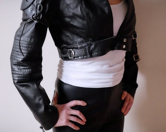 Apocalypse Jacket Real Leather - Black - size Medium - mad max, road warrior, burning man, cosplay, fury road