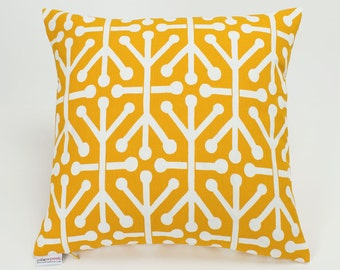 Outdoor Citrus Yellow Aruba Geometric Pillow Cover - 16 inch