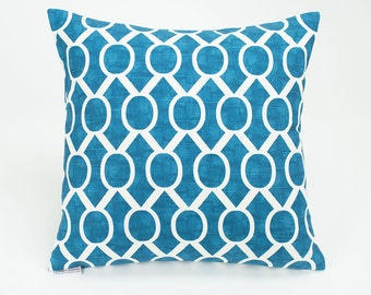 Teal Blue Aquarius Sydney Throw Pillow Cover - 16 inch