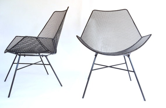 Modernist Wire Metal Patio Chairs Outdoor Patio Garden Chair