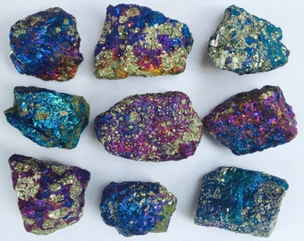 Natural Iridescent Chalcopyrite