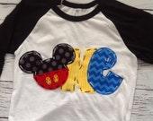 Mickey mouse birthday shirt, one, 1st, girl boy t shirt,