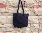 Black Corduroy Tote Bag, School Bag, Book Bag, Grocery Bag, Black Purse, Black Handbag, Shoulderbag, Accessories, Womens Shoulder Bag