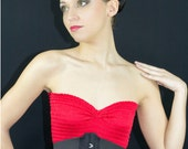 Waist cincher underbust corset in black coutil and stretch elastic ribbons Totaly closed waist size is  60cm(24 inches)