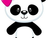 """CROCHET graph with instructions PATTERN, girl panda for afghan, 40""""x55"""""""