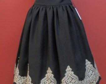 Elegant Gothic  Lolita Gold color Lace skirt, Gothic Lolita, Classic Lolita, Otome, Ready to ship