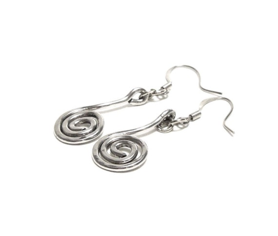 sterling steel earrings 1 5in by