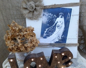 Rustic Wedding Lighted Love Sign