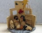 Southwest Nativity Set Creche Christmas One-piece Polymer Clay