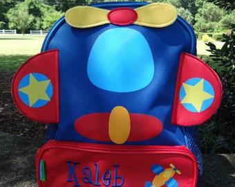 Personalized Stephen Joseph Sidekicks Backpack-AIRPLANE  TODDLER