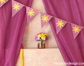 Rapunzel Party- Printable Sun Flag Banner by Fara Party Design