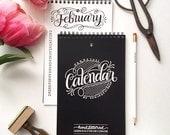 Perpetual calendar - Hand lettered calendar