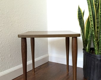 mid century modern wooden side table