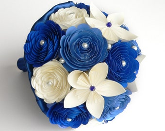 Royal Blue Wedding Bouquet, Wedding Flower Bouquet, Destination Weddings, Blue Wedding Flowers