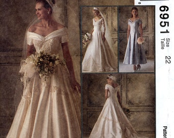McCall's 6951 Alicyn Exclusives Misses' Bridal Gowns and Bridesmaids Dress Sewing Pattern - Uncut - Size 22