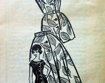 Vintage Anne Adams 4697 Sewing Pattern, Playsuit Pattern, Skirt Pattern, Bust 38, Mail Order Pattern, Romper Pattern, 1960s Sewing Pattern