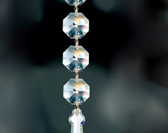 Crystal Prism Ornament - Crystal Christmas Ornament - Chandelier Crystal Ornament - Clear  Crystal Ornament
