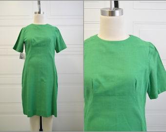 1960s Green A-Line Shift Dress