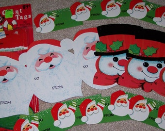 30 Vintage Holiday Giant Christmas Gift Tags Unused in Pkg