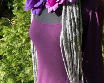 Dread Lock hair falls in Light Grey