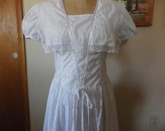 Gorgeous Vintage Jessica McClintock Gunne Sax dress Downton Abbey