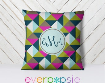 Throw Pillow Personalized-Pattern: TriBoxed Solid GScout