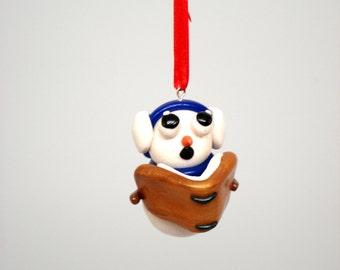Christmas Ornament Snowman Caroling Snowman Polymer Clay Ornament Christmas Decoration Singing Snowman Ornament