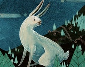 A Rabbit at the End of the World Archival Giclee Print