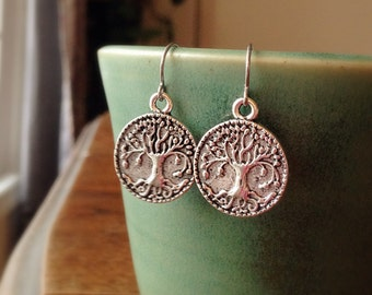 Simple Tree of Life Earrings