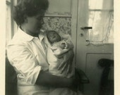 "Vintage Photo ""Hello Auntie"" Snapshot Photo Old Antique Photo Black & White Photograph Found Paper Ephemera Vernacular - 152"