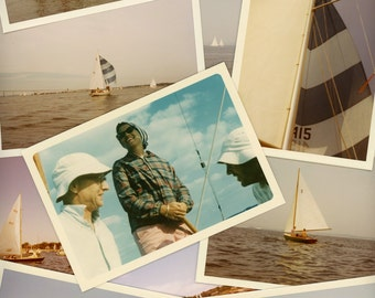 "60 pc - Vintage Photos ""Life on the Water Collection"" Snapshot Lot Old Photo Antique Color Kodak Photography Scrapbook Paper Ephemera"