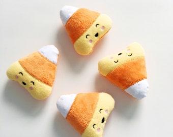Candy Corn Plush - Stuffed Candy Corn - Halloween Toys - Kawaii Plush - Stuffed Candy - Yellow Candy - Plush Food - Stuffed Food