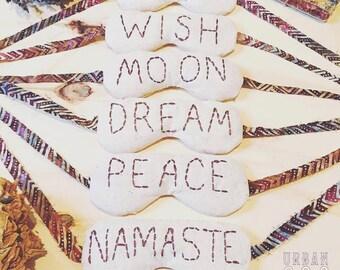 Herbal Flower Essence Dream Eye Mask / Relaxing Eye Pillow, Dream Sleep Mask, Meditation Mask, Yoga / At Home Aromatherapy Zen Spa